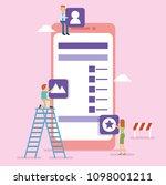 team work building user... | Shutterstock .eps vector #1098001211