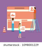 a front end specialist building ... | Shutterstock .eps vector #1098001229