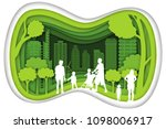 carving design of city urban... | Shutterstock .eps vector #1098006917