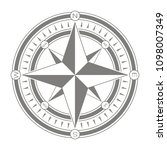 vector icon with compass rose... | Shutterstock .eps vector #1098007349