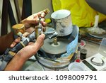 gemstone cutting shop in... | Shutterstock . vector #1098009791