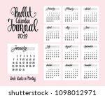 2019 calendar for bullet... | Shutterstock .eps vector #1098012971