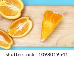 piece of orange cake | Shutterstock . vector #1098019541