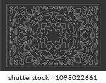 decorative card for cutting... | Shutterstock .eps vector #1098022661