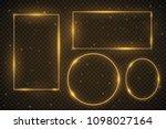 set of glowing frames. vector...   Shutterstock .eps vector #1098027164