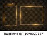 set of glowing frames. vector... | Shutterstock .eps vector #1098027167