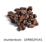 Small photo of Dried medicinal herbs raw materials isolated on white. Root of Alpinia officinarum, lesser galangal.
