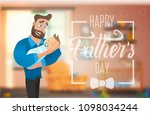 happy father s day banner with... | Shutterstock .eps vector #1098034244
