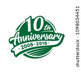 10 years anniversary design... | Shutterstock .eps vector #1098034451