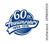 60 years anniversary design... | Shutterstock .eps vector #1098034514