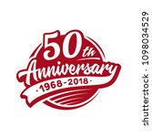 50 years anniversary design... | Shutterstock .eps vector #1098034529