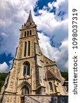 vaduz cathedral of saint florin ... | Shutterstock . vector #1098037319