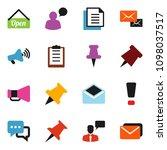 solid vector ixon set   paper... | Shutterstock .eps vector #1098037517