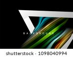 liquid fluid colors holographic ... | Shutterstock .eps vector #1098040994
