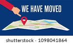 we have moved  changed address... | Shutterstock .eps vector #1098041864