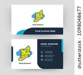 shoe with wings  business card...   Shutterstock .eps vector #1098048677