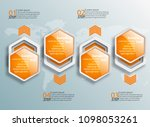 vector abstract 3d paper... | Shutterstock .eps vector #1098053261