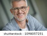 middle aged guy with trendy... | Shutterstock . vector #1098057251