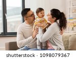 family  parenthood and people...   Shutterstock . vector #1098079367