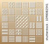 33 vector panels. cutout... | Shutterstock .eps vector #1098082541