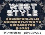 font alphabet script typeface... | Shutterstock .eps vector #1098089231