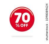 70  off discount. discount... | Shutterstock .eps vector #1098089624