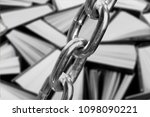 the concept of banning books | Shutterstock . vector #1098090221