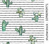 vector illustration. cactus... | Shutterstock .eps vector #1098090971