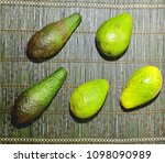 a lot of avocado close up on a... | Shutterstock . vector #1098090989