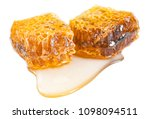 honeycomb with honey isolated... | Shutterstock . vector #1098094511