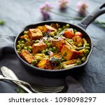 tofu with vegetables sprinkled... | Shutterstock . vector #1098098297
