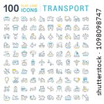 set of vector line icons  sign... | Shutterstock .eps vector #1098098747
