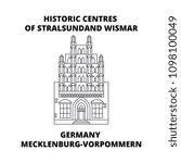 germany  mecklenburg vorpommern ... | Shutterstock .eps vector #1098100049