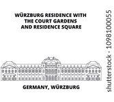 germany  wurzburg residence...   Shutterstock .eps vector #1098100055