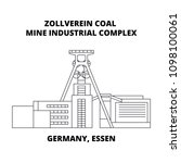 germany  essen  zollverein coal ... | Shutterstock .eps vector #1098100061