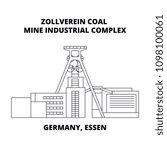 germany  essen  zollverein coal ... | Shutterstock .eps vector #1098100061