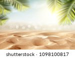 Beach Background With Sand And...