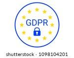 gdpr   general data protection... | Shutterstock . vector #1098104201