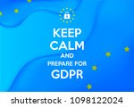 gdpr   general data protection... | Shutterstock .eps vector #1098122024