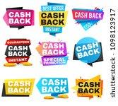 money cash back labels and... | Shutterstock . vector #1098123917