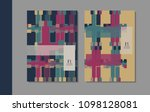 minimalistic retro cover design....   Shutterstock .eps vector #1098128081