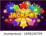 vector logo jackpot and... | Shutterstock .eps vector #1098130709