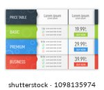 price table for websites and... | Shutterstock .eps vector #1098135974