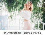 fashion lifestyle portrait of...   Shutterstock . vector #1098144761