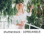 fashion lifestyle portrait of...   Shutterstock . vector #1098144815