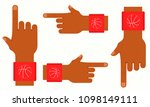hands of basketball player with ... | Shutterstock .eps vector #1098149111