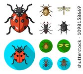 insect  bug  beetle  paw ... | Shutterstock . vector #1098158669