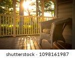 warm sunny look over an empty... | Shutterstock . vector #1098161987