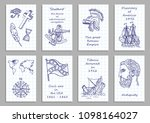 set of eight creative cards.... | Shutterstock .eps vector #1098164027