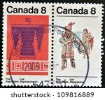 Small photo of CANADA - CIRCA 1973: stamp printed in Canada shows the Algonkian, circa 1973